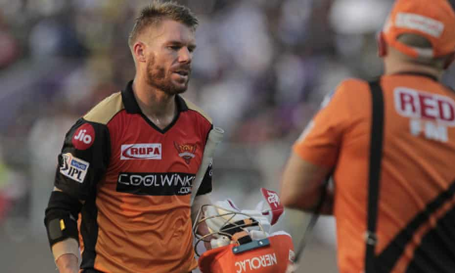 David Warner watched from his Dubai hotel room as England's Jason Roy played in his place for Indian Premier League side Sunrisers Hyderabad.