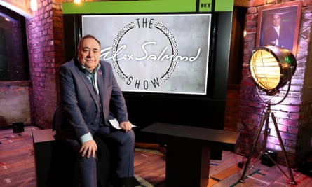 Alex Salmond during the launch of his RT chat show.