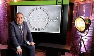 Alex Salmond on the set of his RT talkshow.