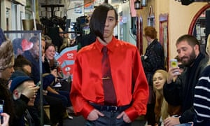 Phil Oakey eat your heart out … Barbers and food sellers mix with the fashion crowd at Seven Sisters Indoor Market, north London, for Martine Rose.