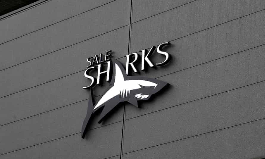 Sale Sharks' logo at the AJ Bell Stadium