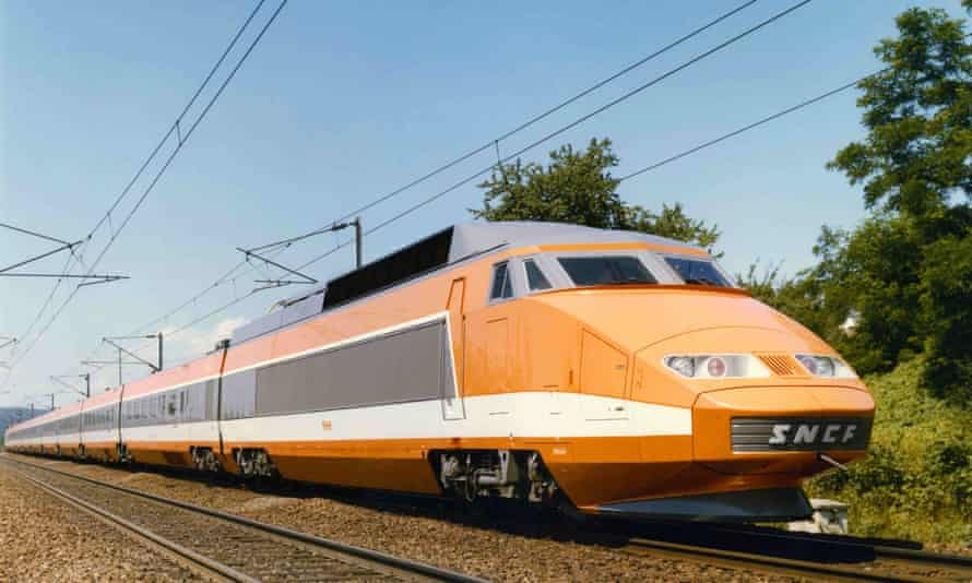 The SNCF TGV Sud-Est, built by Alstom and designed by Jacques Cooper, 1981.