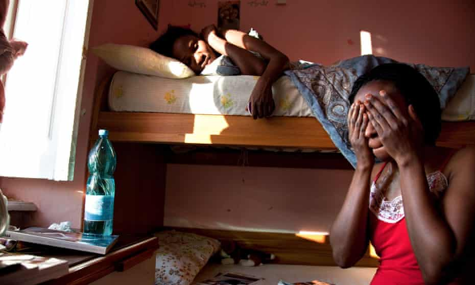 A shelter for trafficked women who have entered a protection programme run by the Italian state