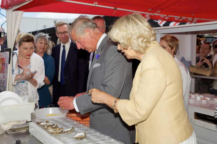 Prince Charles and Camilla, Duchess of Cornwall at the Whitstable Oyster festival in 2013