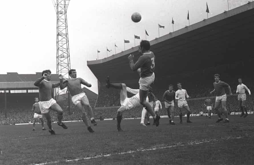 Everton v Leeds in a rare FA Cup semi-final at Old Trafford in April 1968.