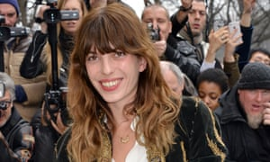 Lou Doillon at Paris fashion week in 2015.