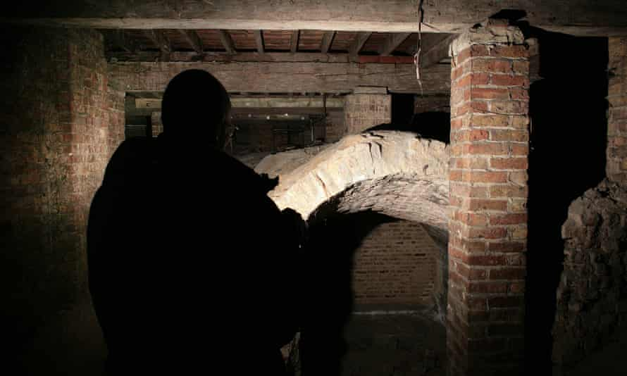 The crypt beneath St Michael's church in Highgate, north London.