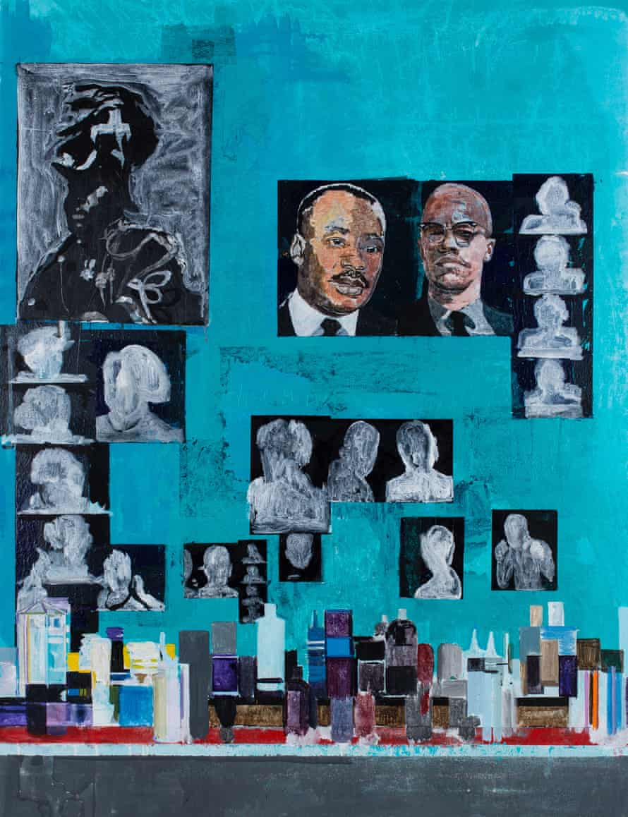 Hurvin Anderson's Is It OK to Be Black? (2016).