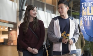 On career-making form … Hailee Steinfeld and Hayden Szeto in The Edge of Seventeen.