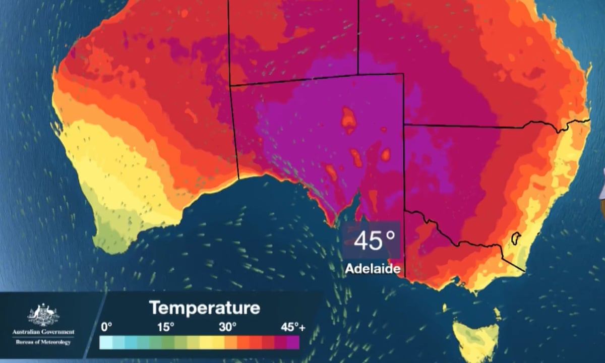 South Australia Breaks Temperature Records As Port Augusta Hits 49 5c As It Happened Australia News The Guardian