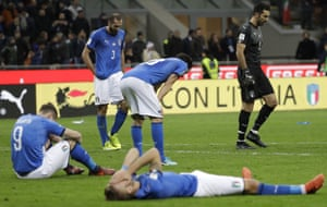 Italy digest the fact that they will not be at the World Cup after a play-off defeat by Sweden.