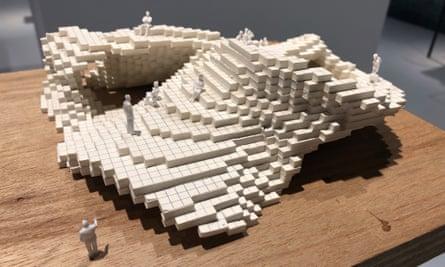 A model of how Sou Fujimoto's 2013 Serpentine Ppavilion began at Japan house.