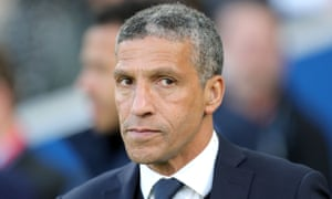 Chris Hughton saw his team defeat Manchester United on Friday night.
