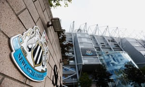 A general view of the Newcastle United stadium where offices were raided on Wednesday morning.