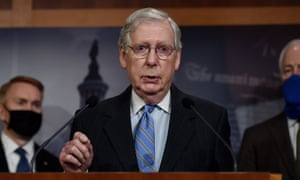 Mitch McConnell speaks at a news conference on Capitol Hill.