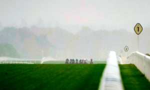 Ascot races in October. It will be similar today with a soggy Swinley Bottom.