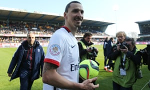 Zlatan Ibrahimovic fired home four goals in PSG's 9-0 win at Troyes.