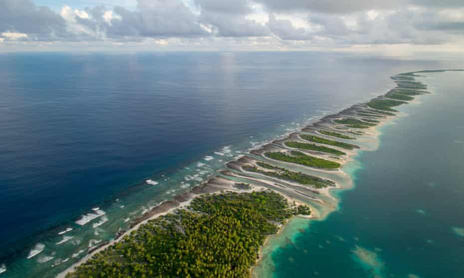 Orona Island, an uninhabited island in the Phoenix Islands, Kiribati.