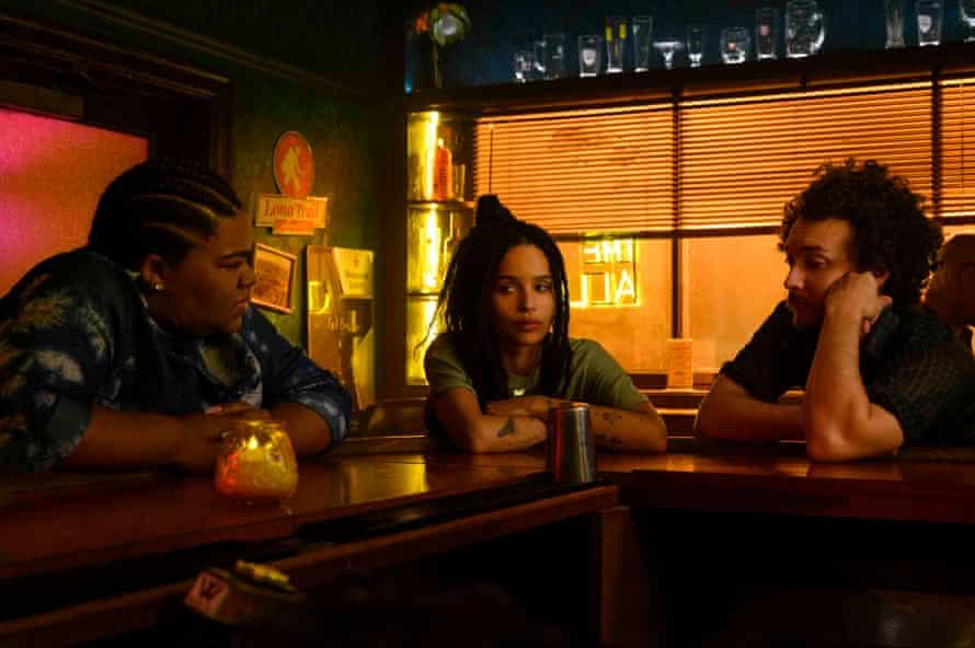Da'Vine Joy Randolph, Zoe Kravitz and David H. Holmes in High Fidelity