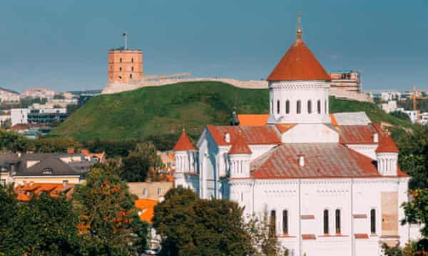 The old town in Vilnius, Lithuania.