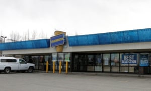 The Blockbuster in Anchorage, Alaska, which closed on 15 July.