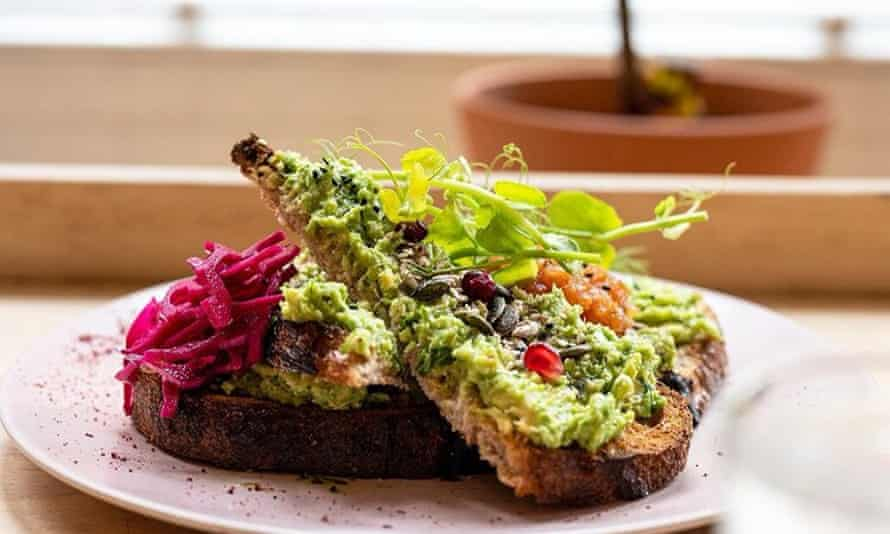 avo toast at Idle Hands