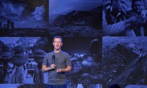 Facebook founder Mark Zuckerberg announces an Internet.org initiative in New Delhi in 2014