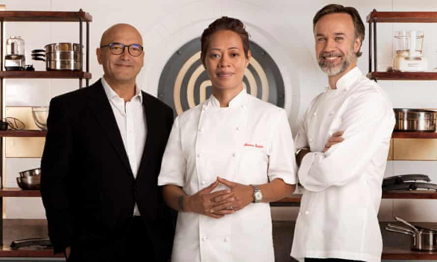 the MasterChef: The Professionals team (L-R) Gregg Wallace, Monica Galetti, Marcus Wareing