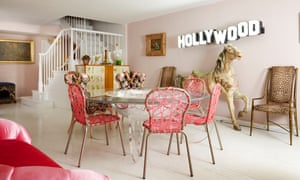 Think pink: the living area, with its Campana Brothers Zig Zag chairs and carousel horse.