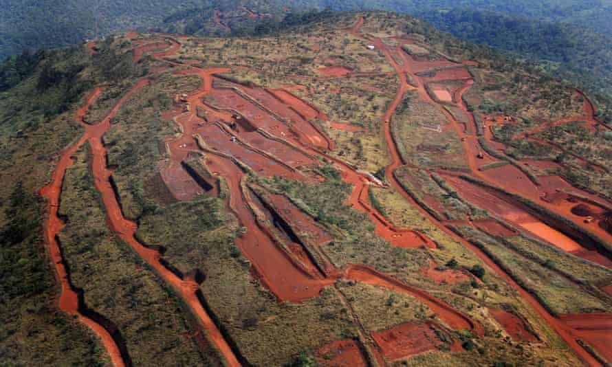 The Simandou iron ore mining project in south-east Guinea