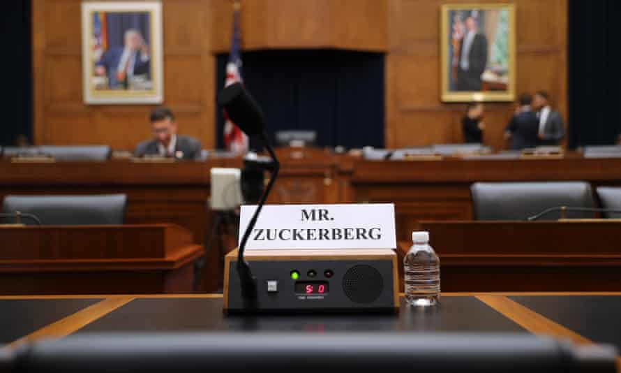 Mark Zuckerberg empty chair