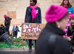 """Matiangai Sirleaf age 35 from Pittsburgh, Pennsylvania, """"I march because I am an immigrant and a black woman who is outraged about the turn this country is taking and I'm organizing to change."""""""