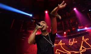 Wiley Performs At The Roundhouse In Camden<br>LONDON, ENGLAND - FEBRUARY 09:  Wiley performs on stage at The Roundhouse in Camden on February 9, 2017 in London, United Kingdom.  (Photo by Gus Stewart/Redferns)
