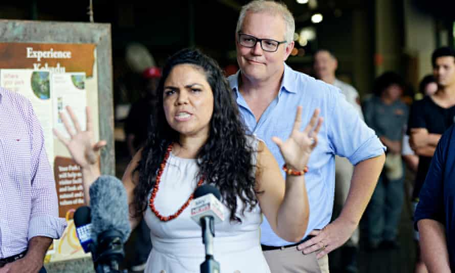 Scott Morrison with Liberal candidate Jacinta Price