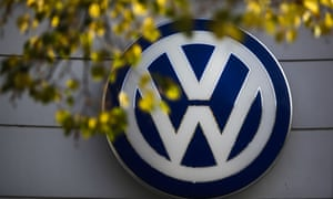 A VW sign