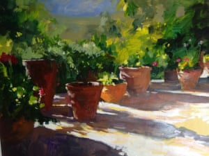 Moroccan potA painting I did of plant pots on a recent visit to Morocco