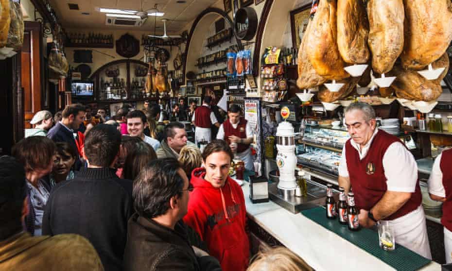 Traditional Spanish bar Casa Puga. Almeria, Andalusia, Spain.