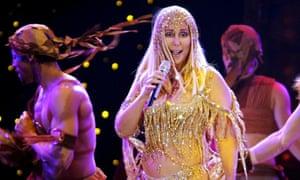 Cher onstage in Zurich, Switzerland, 2004.