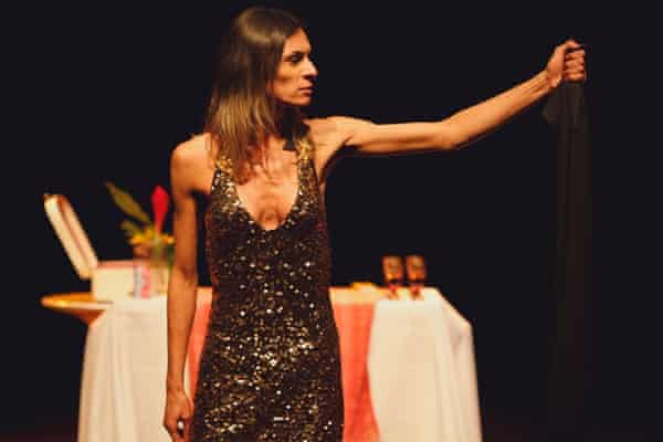 Smokebombed … Renata Carvalho in Jo Clifford's play The Gospel According to Jesus, Queen of Heaven.
