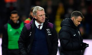 David Moyes watches on as West Ham slipped to their seventh defeat in the first 12 Premier League games.