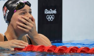 Pernille Blume of Denmark reacts after winning the gold.
