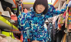Susie Lau looking in her wardrobe
