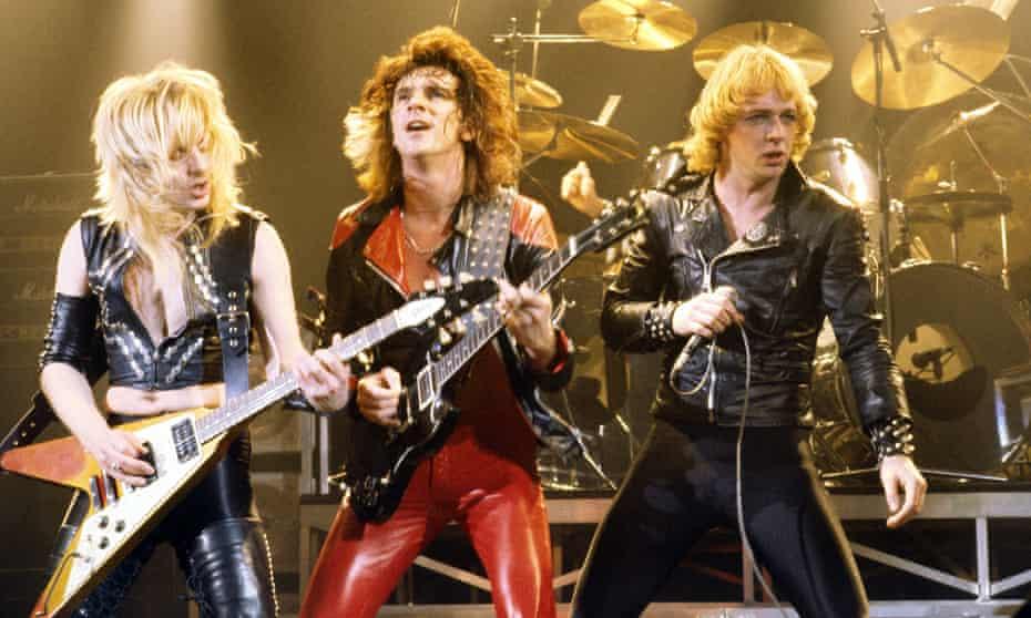 KK Downing, Glenn Tipton and Rob Halford in 1980