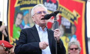 John McDonnell addressed a May Day rally in Trafalgar Square on Monday