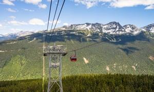 View towards Whistler Mountain from the PEAK2PEAK gondola