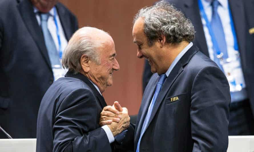 Sepp Blatter, left, has said that his payment to Michel Platini, right, in 2011 was based on a gentleman's agreement'.