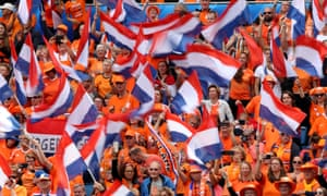 Dutch fans turn everywhere they go in France into a festival of orange.
