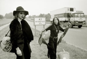 Hitchhikers en route to the festival.