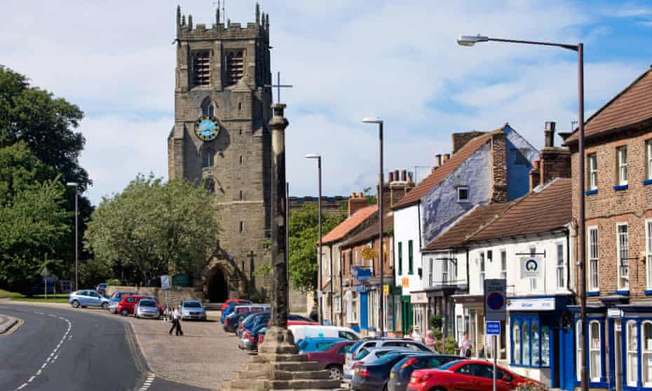 The North Yorkshire town of Bedale, home to the historic Bedale Hunt.