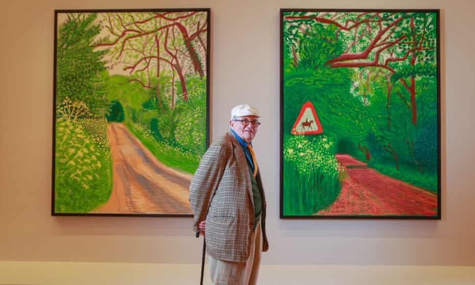 David Hockney at the NGV.